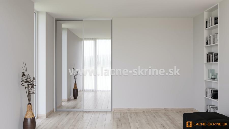 Vstavaná skriňa dvojdverová zrkadlo 160-02
