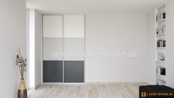 Vstavaná skriňa dvojdverová 3x delené dvere