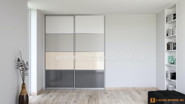 Vstavaná skriňa dvojdverová 4x delené dvere