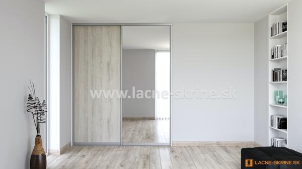 Vstavaná skriňa dvojdverová Zrkadlo číre, Pinia Cascina