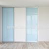 Vstavaná skriňa trojdverová Lacobel modrý pastel